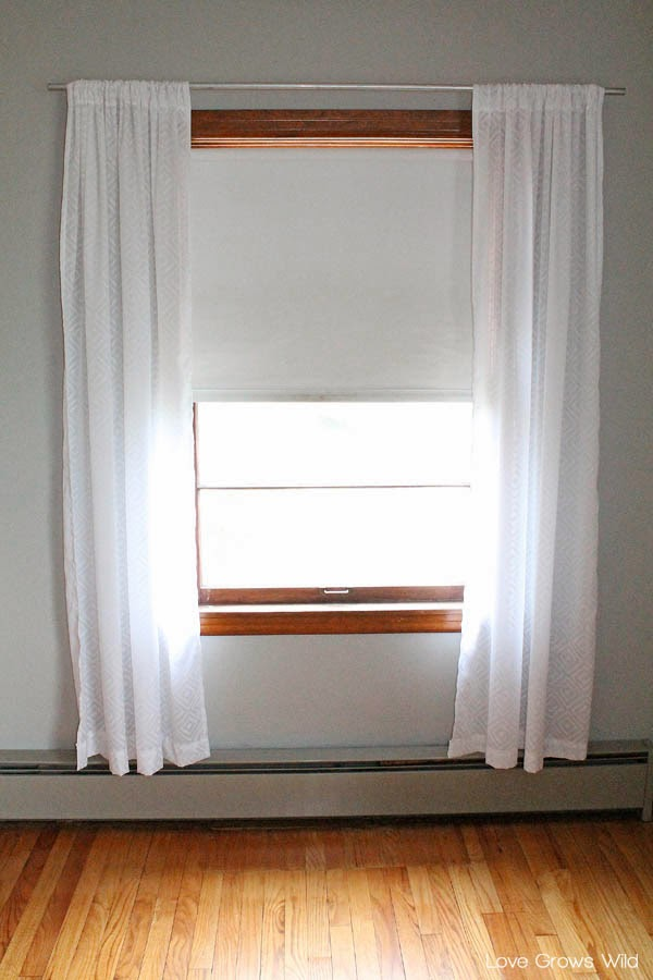 Curtains Ideas sheer curtain ideas for living room : White Roller Shade and White Curtains