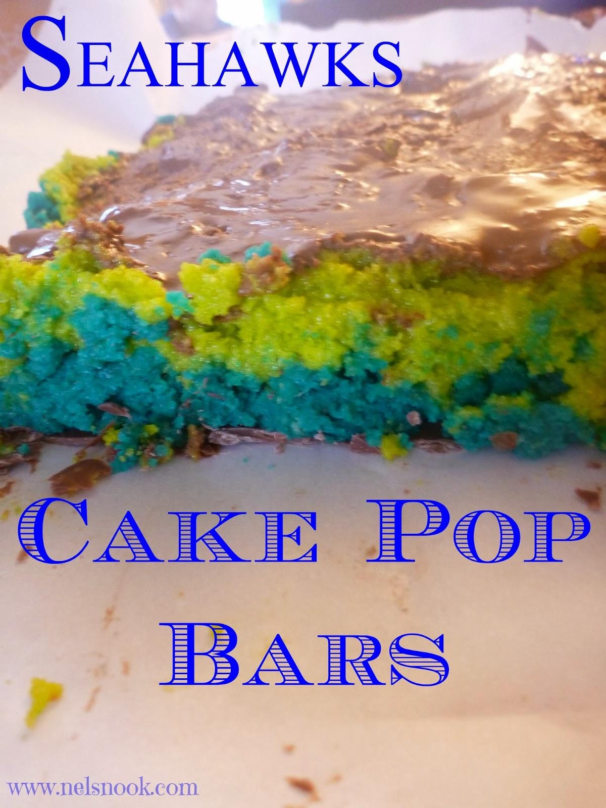 Seahawks Cake Pops Seahawks Cake Pop Bars