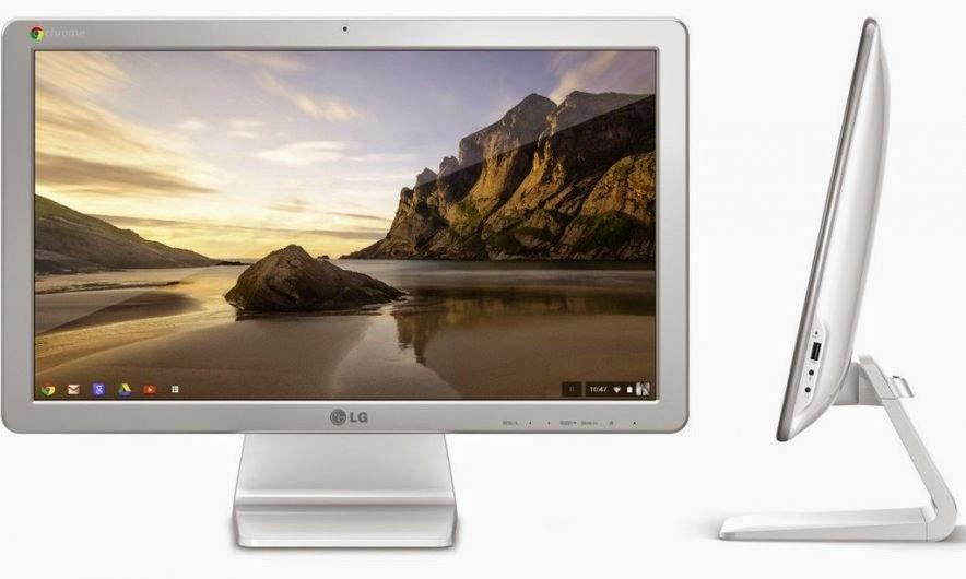 моноблок LG Chromebase с переди и сбоку