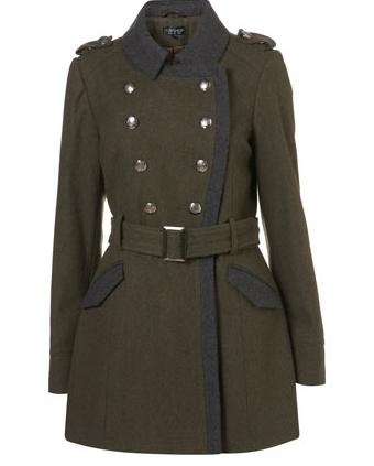 Military Coat Topshop