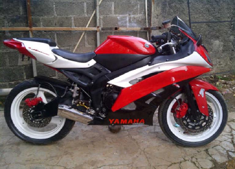 modifikasi motor yahama scorpio racing look