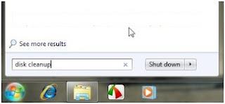 Menggunakan disk cleanup untuk membersihkan file sampah windows 7