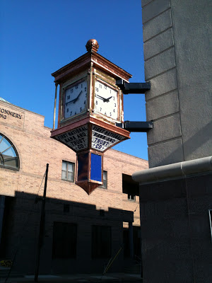 the original First National Bank and Trust Co Clock in Woodbury, NJ.