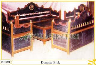 Set Meja dan Kursi Tamu Ukiran Kayu Jati Dynasty