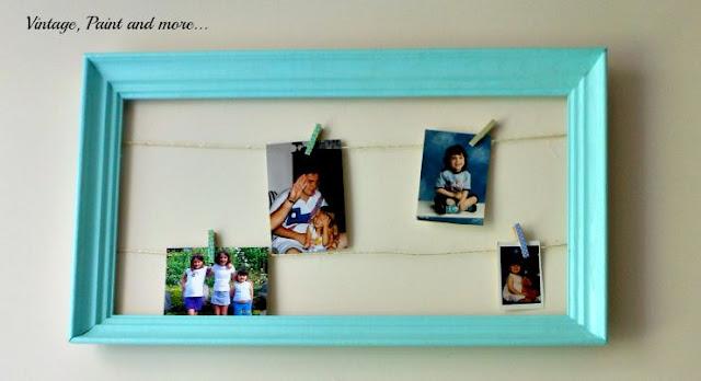 Vintage, Paint and more... DIY Dorm Decor - string art photoframe