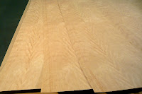 Close Up of Three Sheets Heavy Figure 4x8 Ropey Cherry Veneer