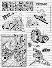 Autumn's Pencil Rubber Stamps