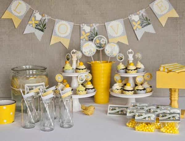 Wedding shower table decorations to make