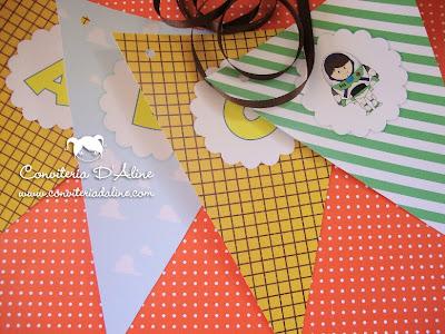 bandeirolas decoração festa Toy Story