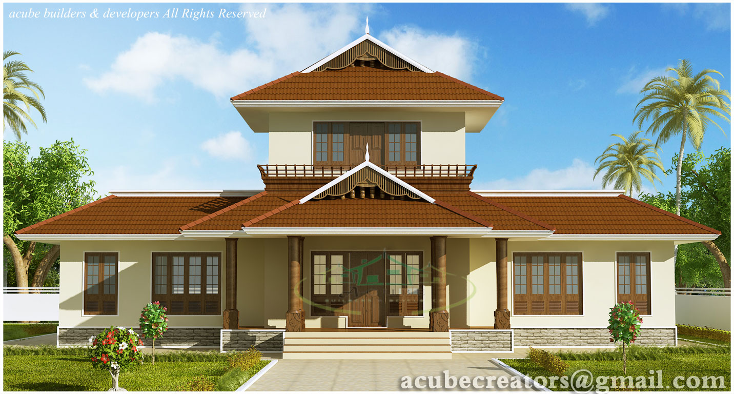 Awesome 3 bhk kerala home elevation 1947 sq ft plan for Ground floor 3d elevation