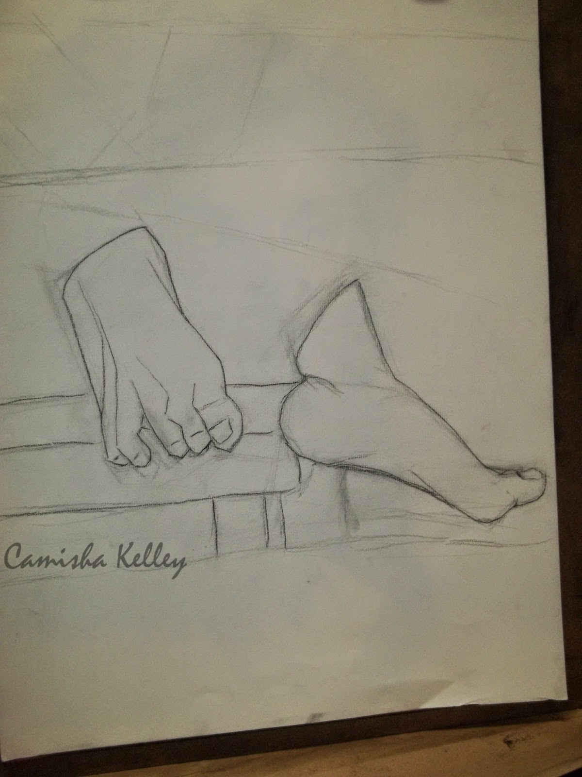 """Feet Study"" The line art for my second assignment I am working on currently. A pair of feet."