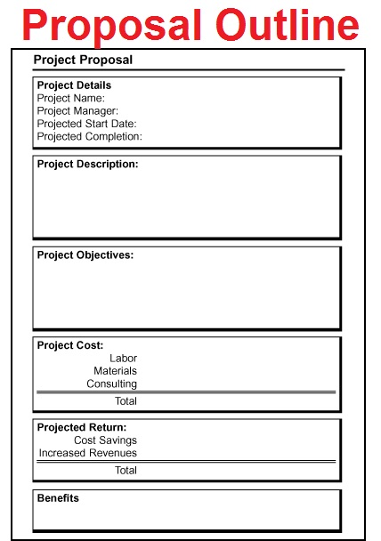 Proposal Outlines  Free Job Proposal Template