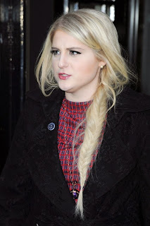 Meghan Trainor seen leaving the BBC Radio 2 Studios in London, United Kingdom on January 23, 2014