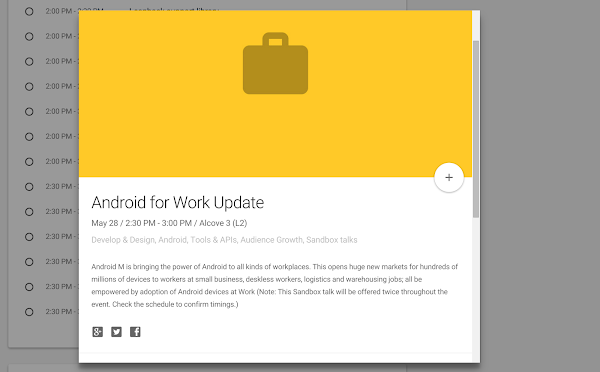larger Android M reference in Android for Work at Google I/O