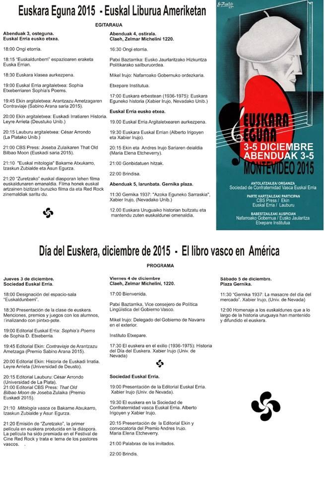 """""""EUSKARA EGUNA 2015 - EUSKAL LIBURUAK AMERIKETAN"""""""