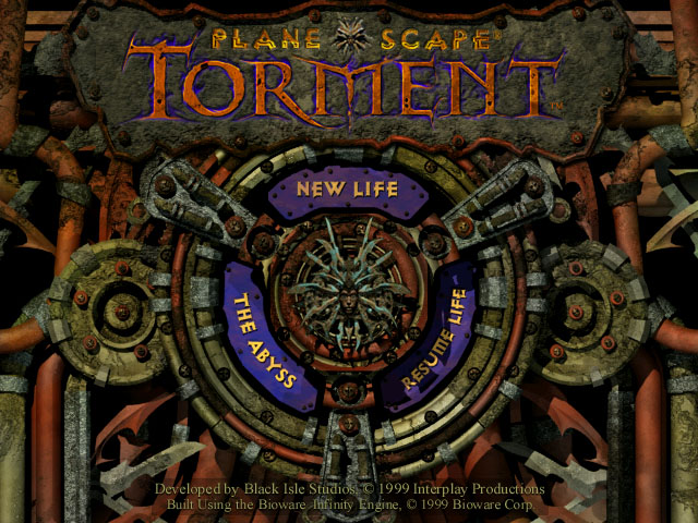 Planescape Torment title screen