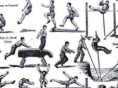 Aus einer alten Enzyklopädie: Sportarten
