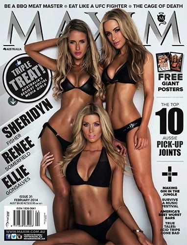 Sheridyn Renee Ellie Maxim Australia February 2014 Cover Girl