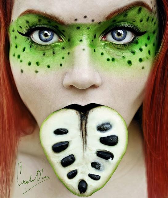 Фотосессия с фруктами