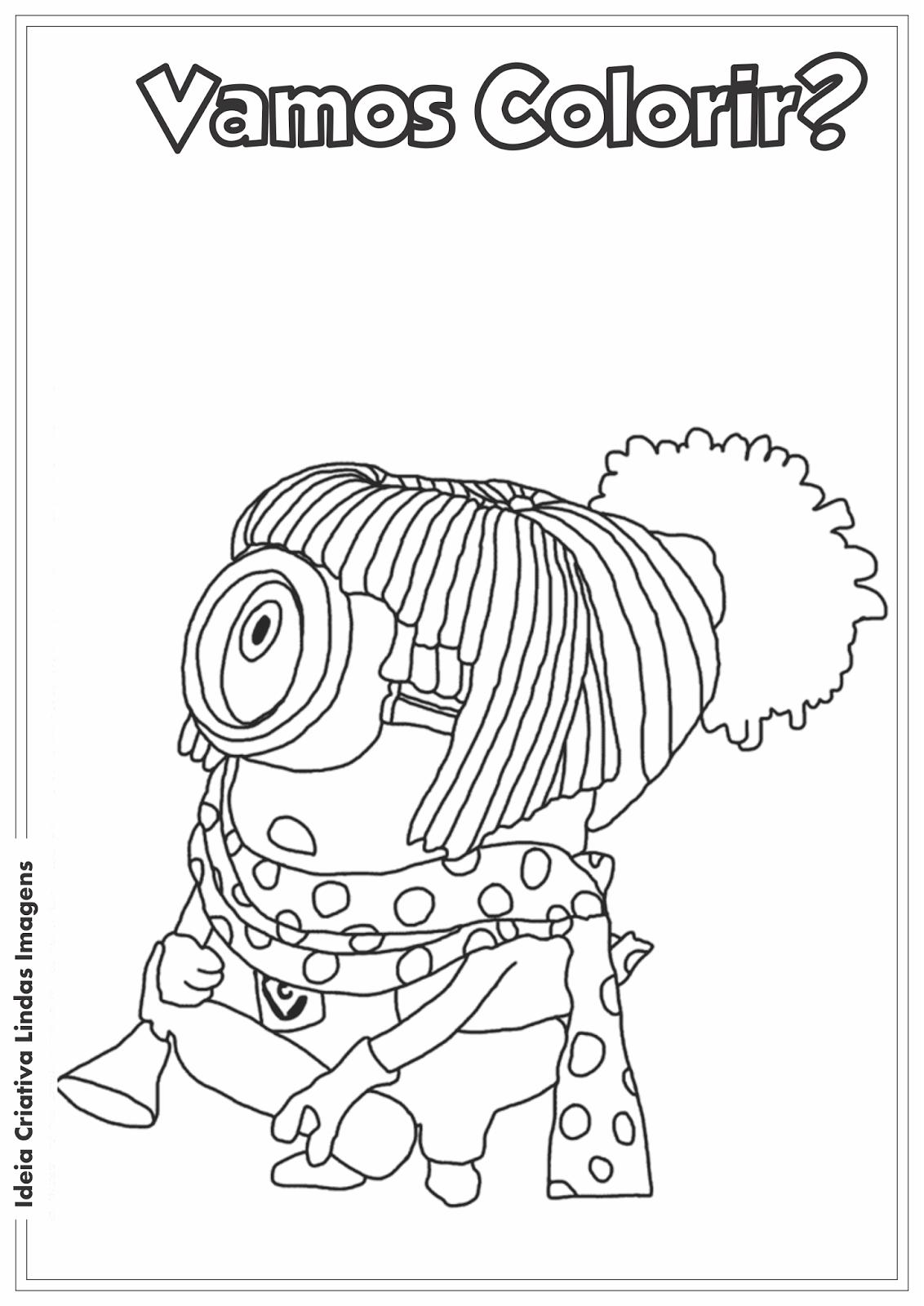Meu Malvado Favorito 2 - Minion desenho para colorir