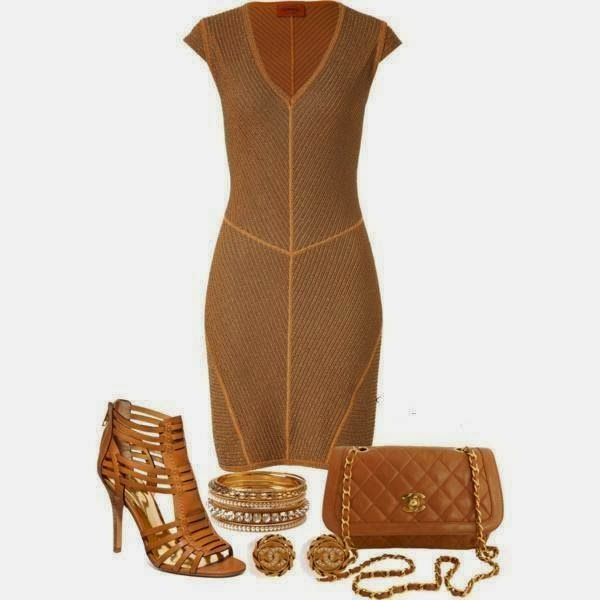Bag, Dress, Shoes, Earrings: