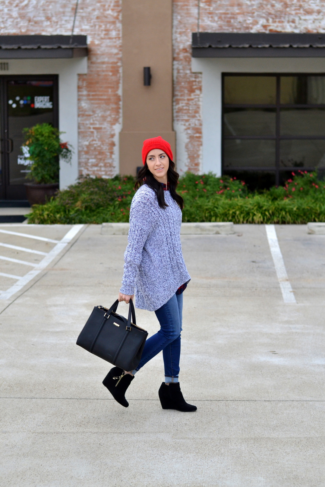 Cold Weather Outfit_Layers_Beanie_Chunky Knit