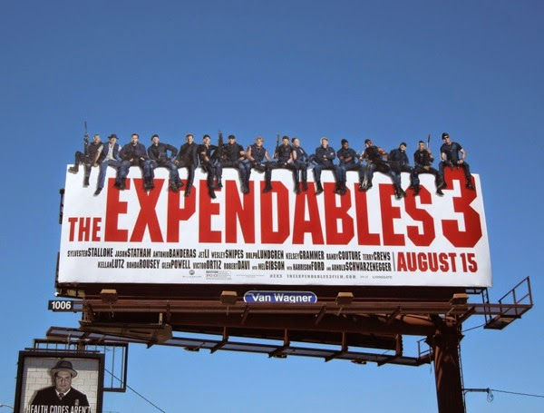 The Expendables 3 special extension movie billboard