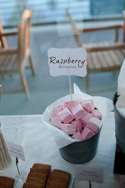 Made-from-scratch Raspberry Marshmallows for S'mores