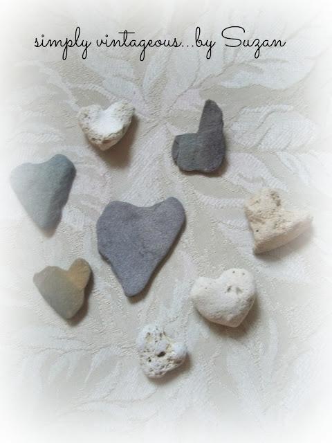 rocks, shape, hearts, natural