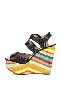 Rengarenk Topuklu Ayakkabı