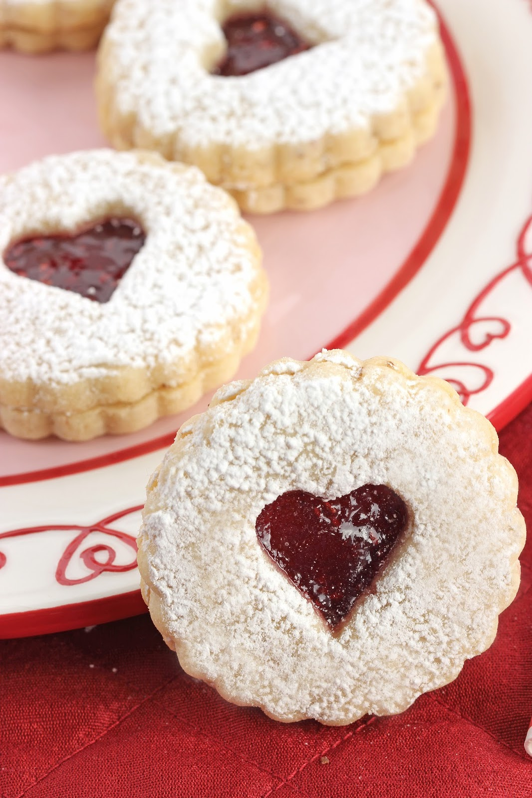 Linzer Tart Cookies | Cooking on the Front Burner #linzertarts #valentinesday #cookies