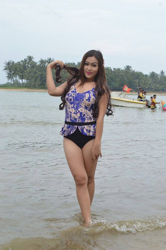 Miss Universe Myanmar 2015 & 2016 Contestants in Chaung Thar