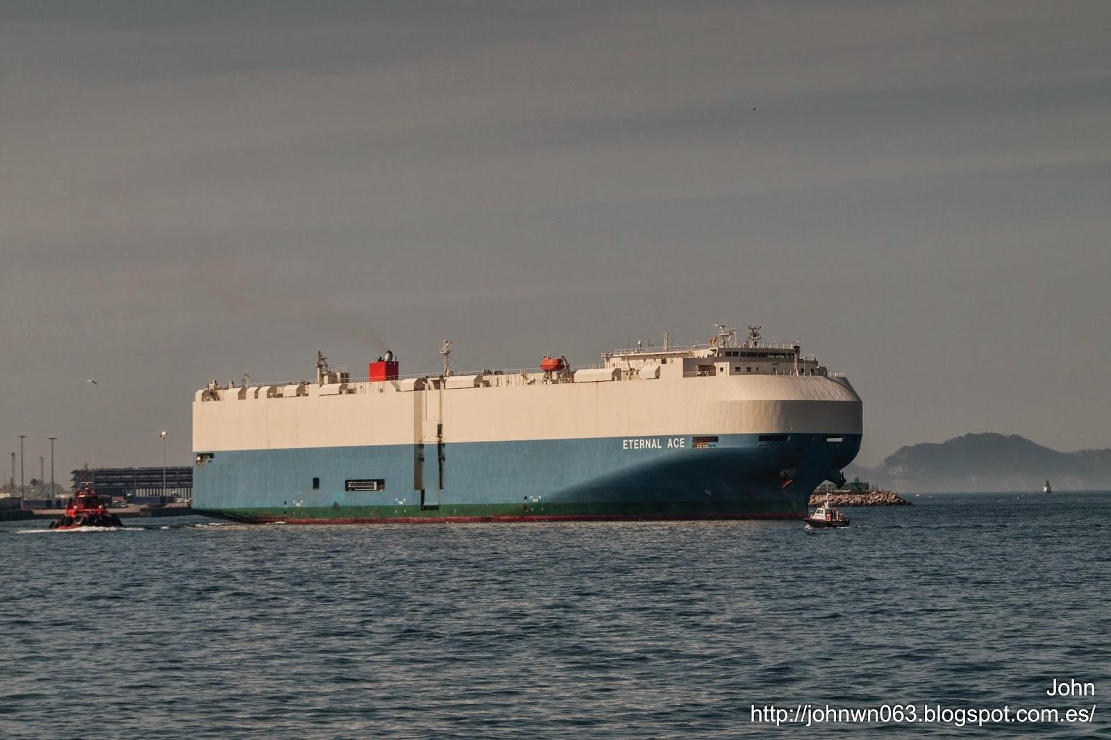 car carrier, fotos de barcos, eternal ace, vehicles carrier, vigo, bouzas