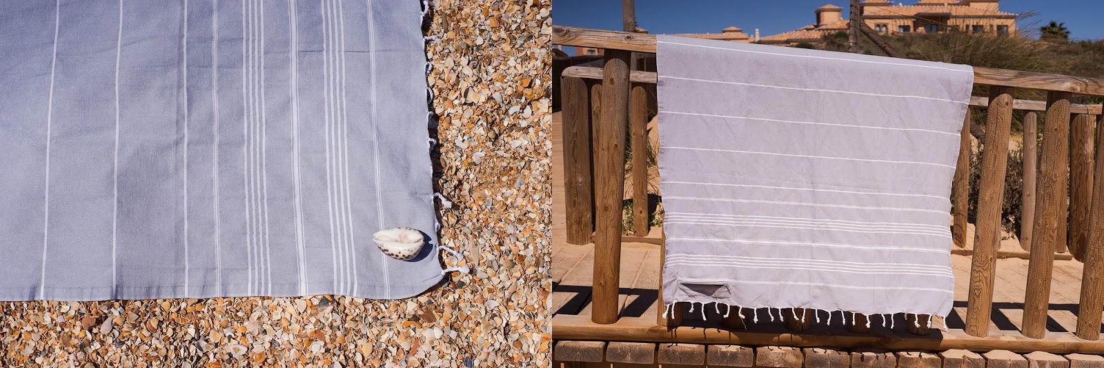 Detalles toalla Córcega gris
