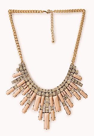 Art Deco Fan Bib Necklace - Forever 21