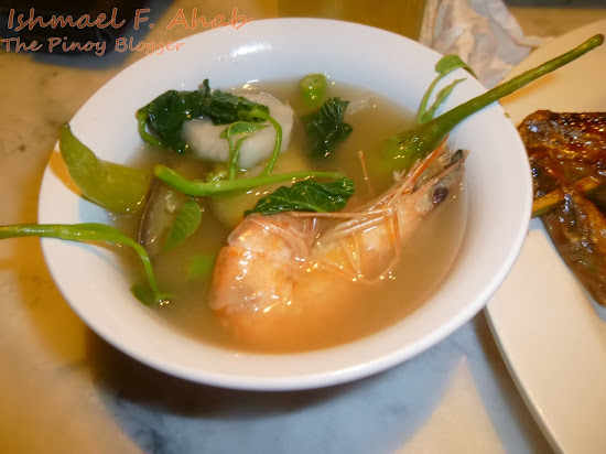 Shrimp in sinigang na hipon of Haim Chicken Inato