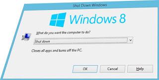 mematikan komputer dengan keyboard