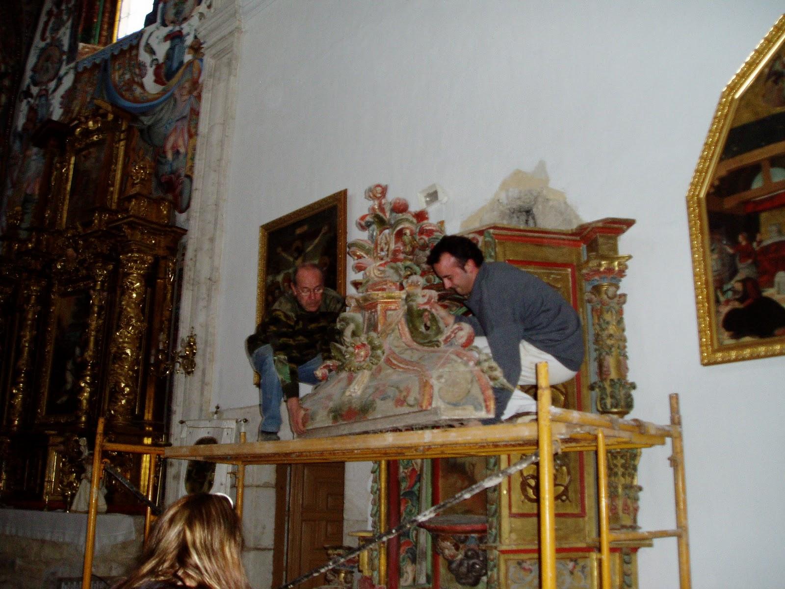 Fuentemolinosblog restaurando el altar de san sebasti n - Atico las tablas ...