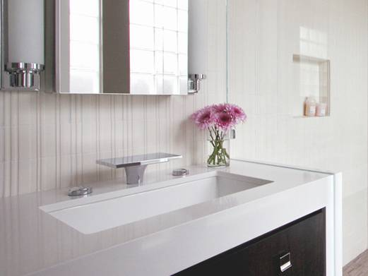 Construindo Minha Casa Clean Diferença Mármore x Granito x Marmoglass x Nano -> Pia De Banheiro Em Nanoglass