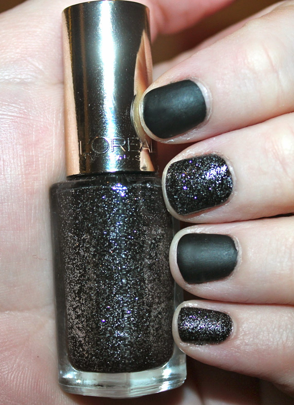 Manicure Monday: Black Leather & Sparkles