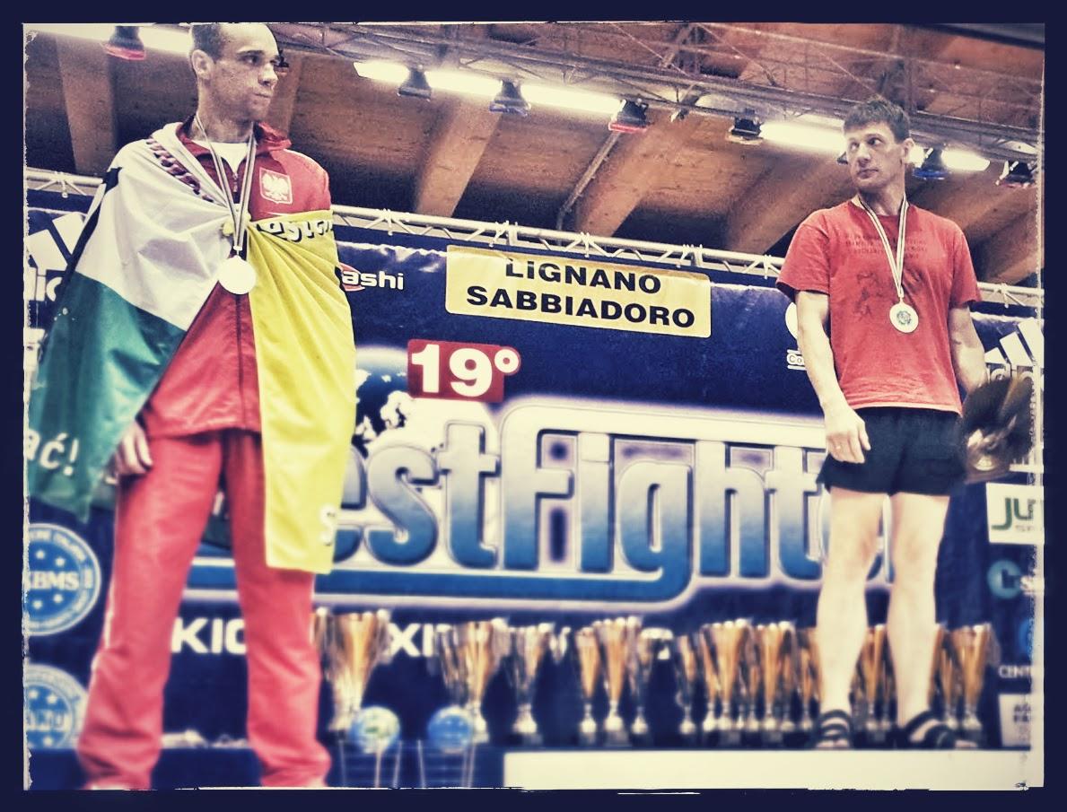 PŚ ,Lignano Sabbiadoro 2014,Bestfighter,Bogumił Połoński,kickboxing,wicemistz,srebro