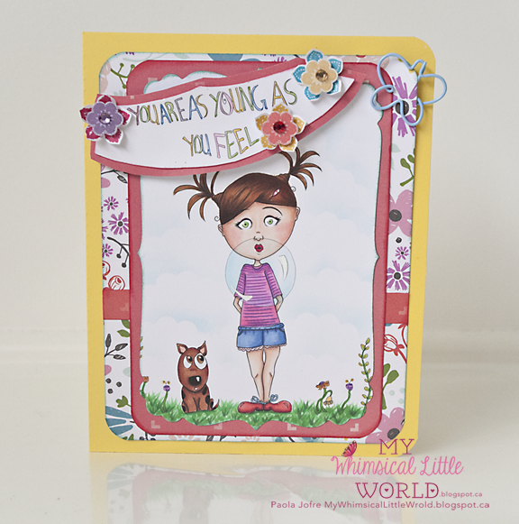 my whimsical little world, copic, copic makers, cardmaking, paola jofre, drawing, silhouette cameo
