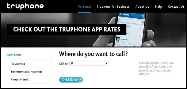 TruPhone Rates