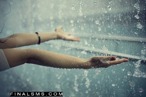 girl enjoying rain quote wallpapers