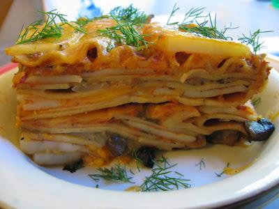 Mushroom Potato Lasagna
