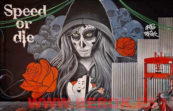 graffiti catrina mexicana