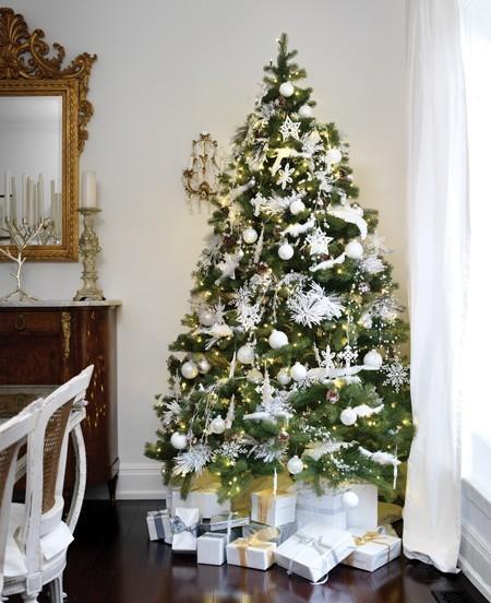 Vientage c mo decorar tu rbol de navidad - Como adornar un arbol de navidad blanco ...