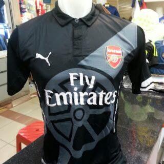 jual online jersey terbaru musim depan Jersey Prematch Arsenal warna hitam terbaru musim 2015/2016