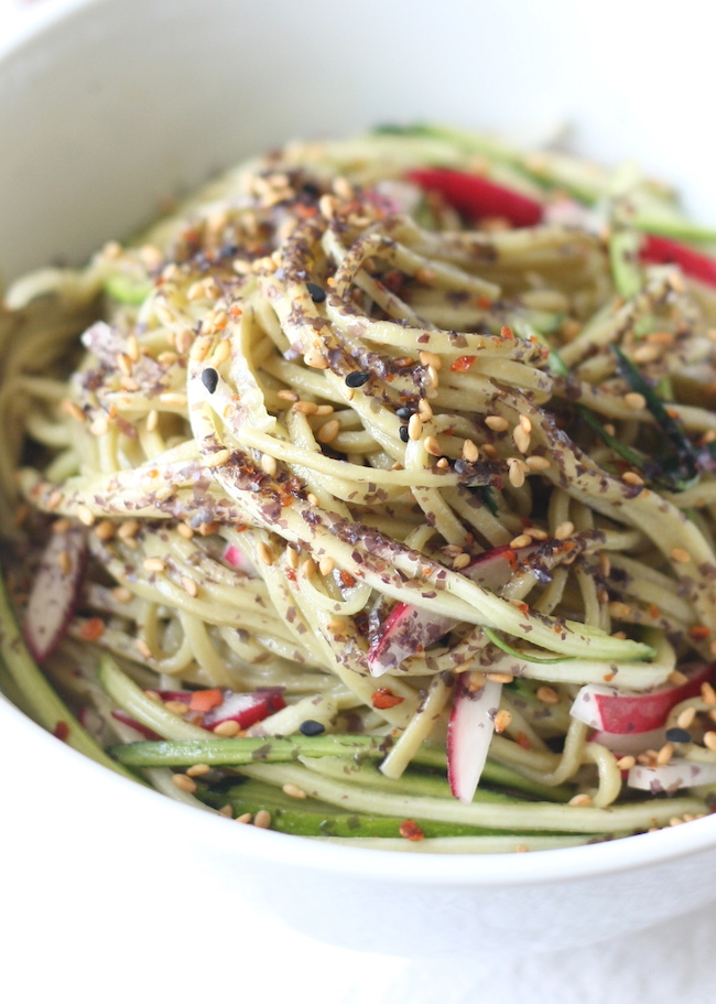 Green Tea Cha Soba Noodle Salad by SeasonWithSpice.com