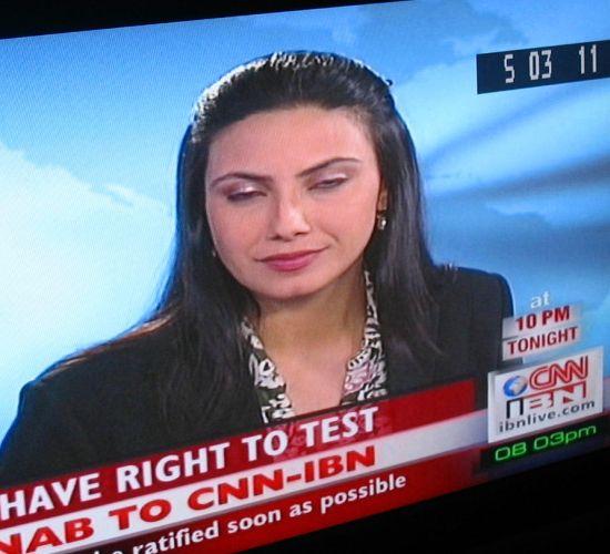 female news anchor cnnibn